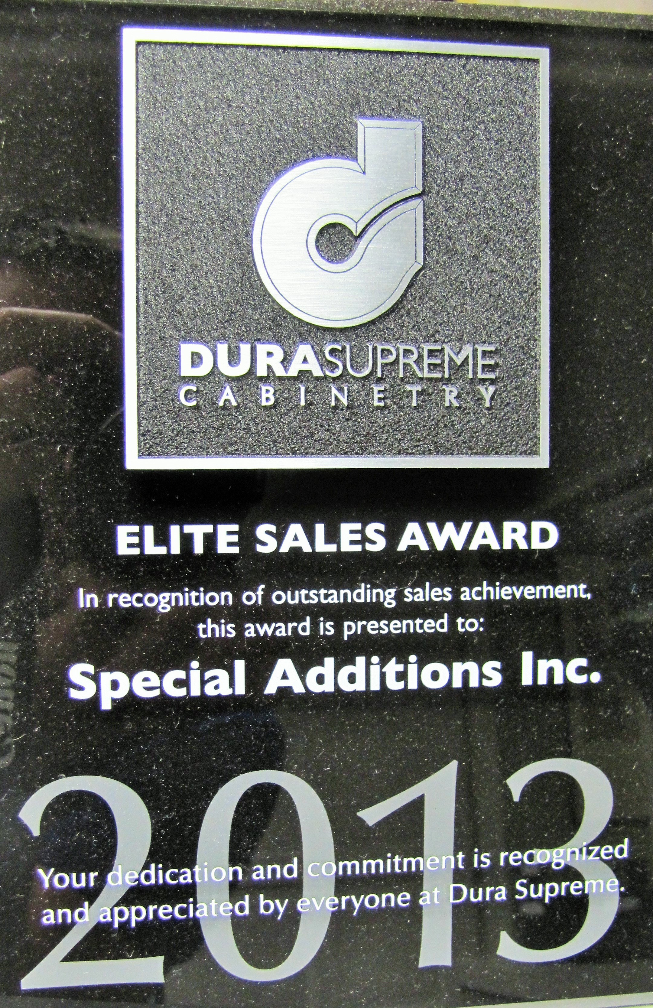 Special Additions Elite Sales Award