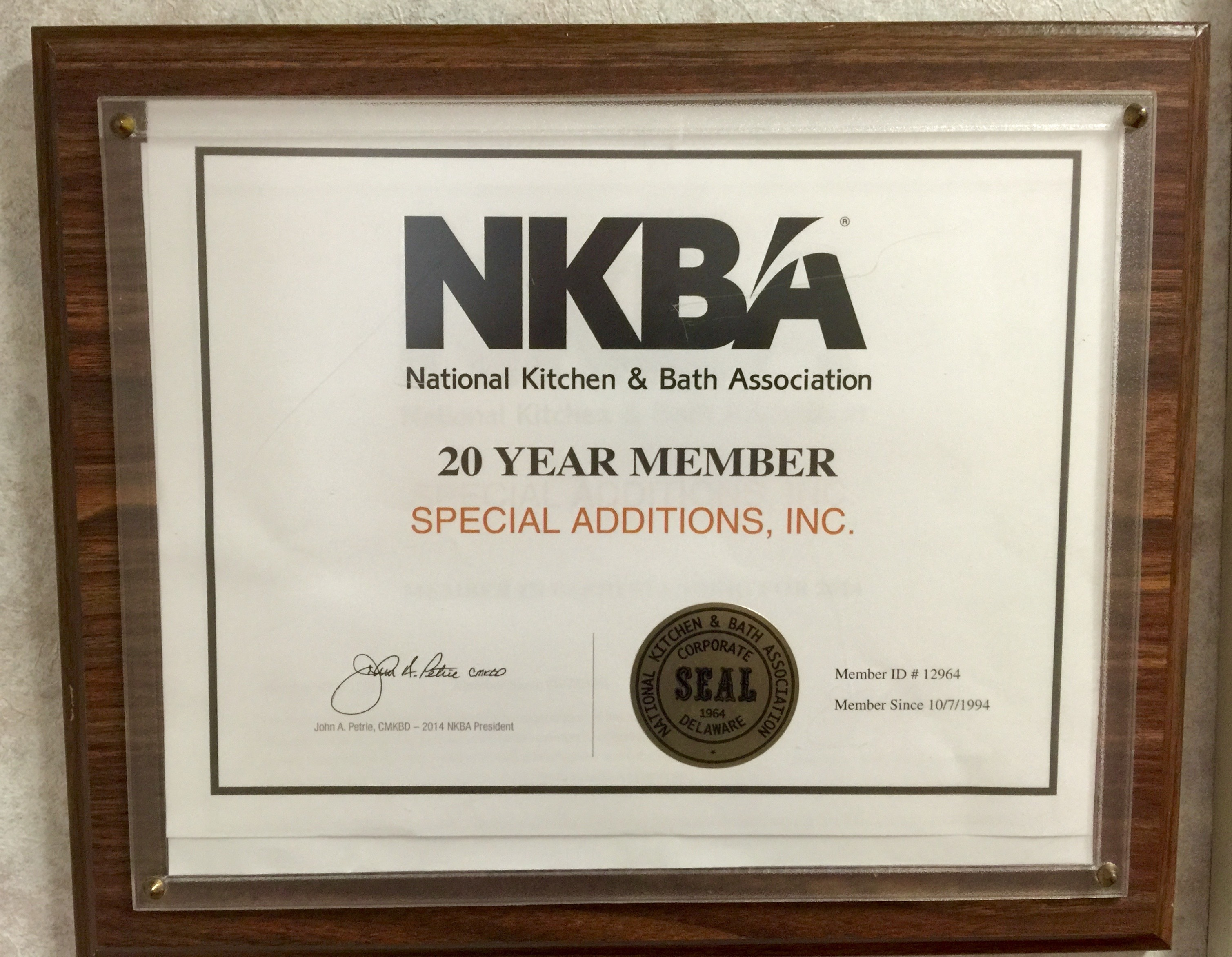 NKBA 20th Anniversary! – Special Additions, Inc.