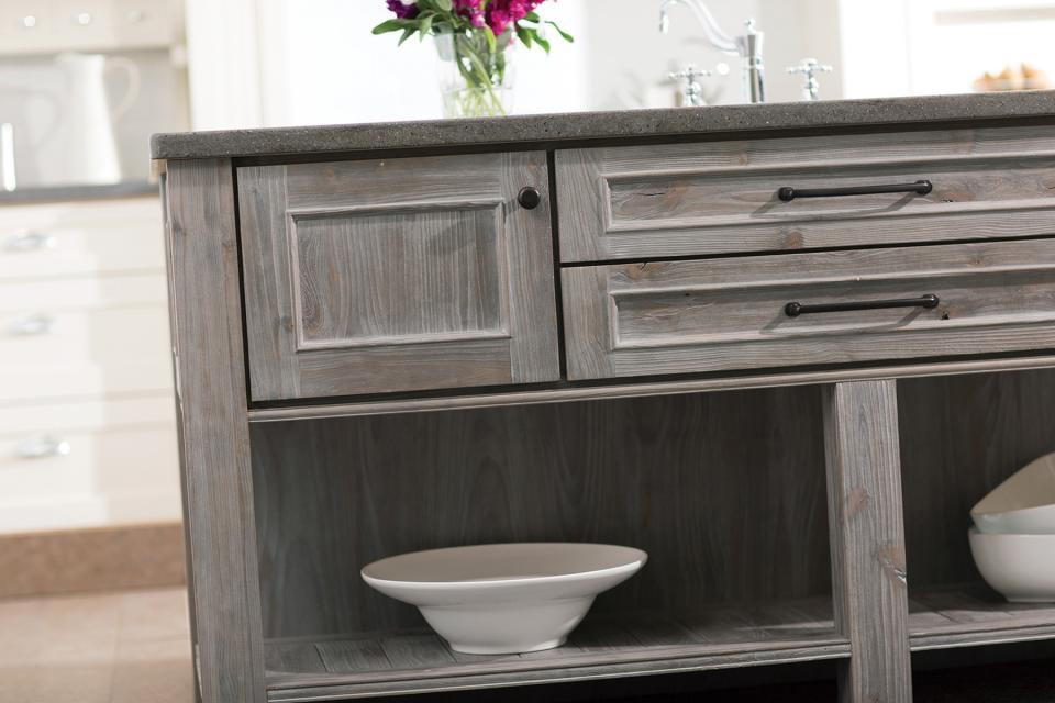 Gray Wood Cabinet