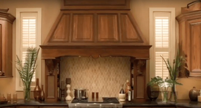 Wood Kitchen Vent and Stove