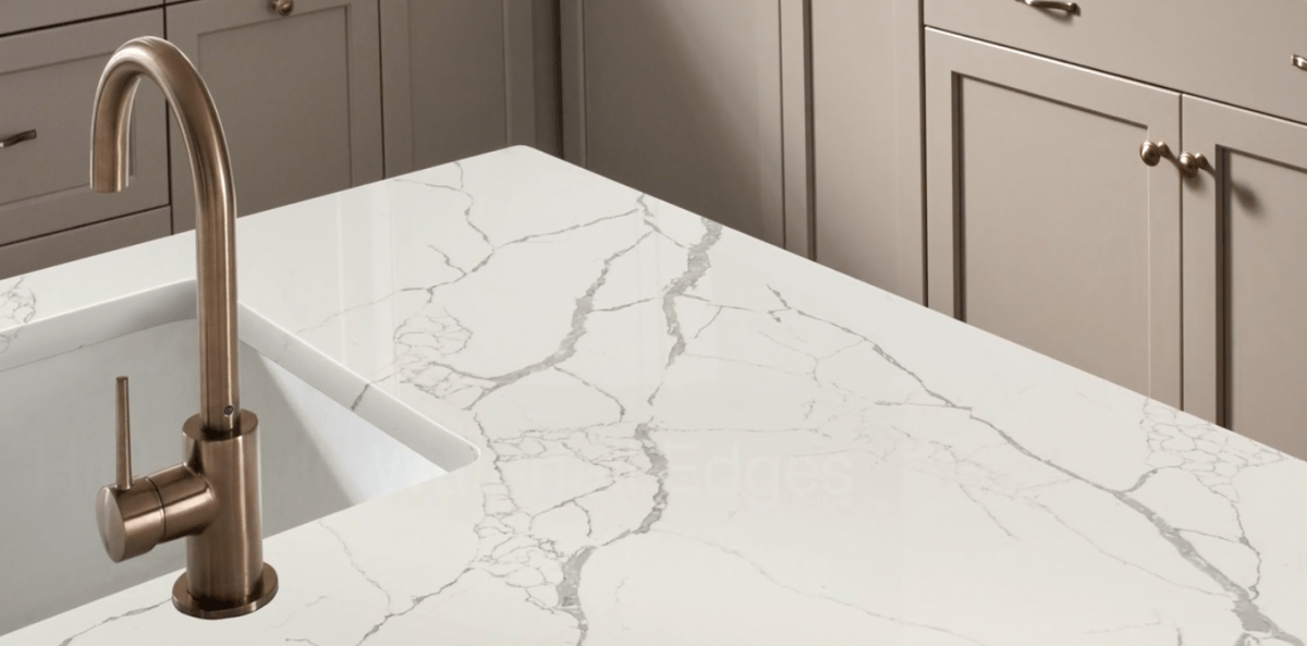 Rock Kitchen Surface with Silver Sink