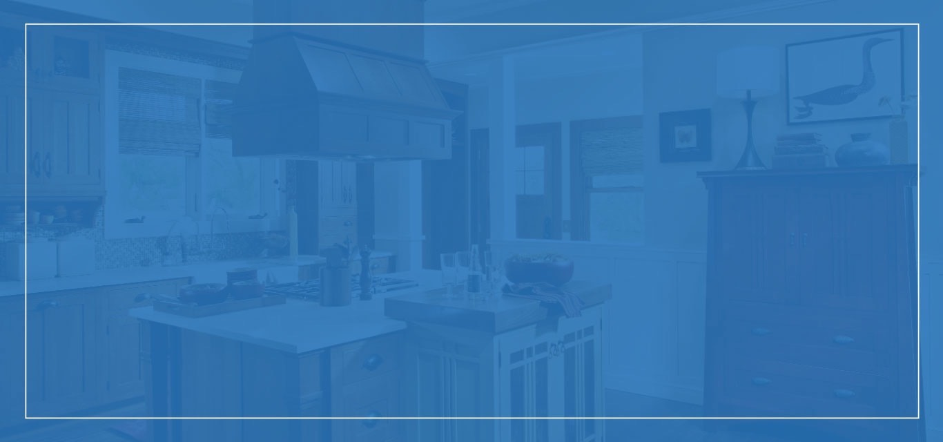 Blue Slider over Kitchen Display