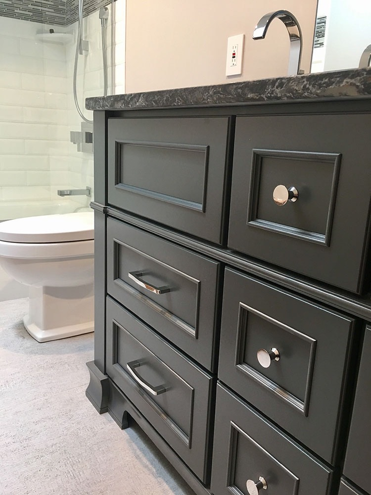 Black Cabinet with Silver Knobs