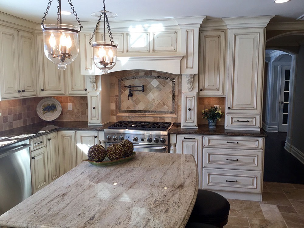 Modern Kitchen Counter with Fruit