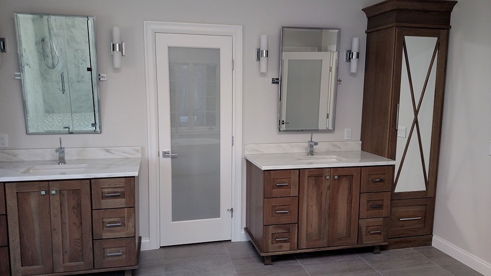 Durable Bathroom with Duel Sinks