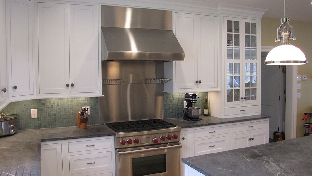 Kitchen Stove with Red Knobs