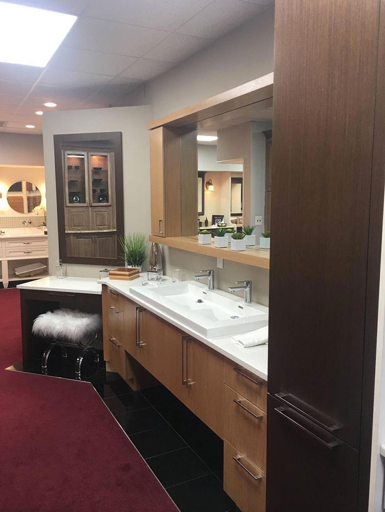 Bathroom Sink with Mirror and Cabinet