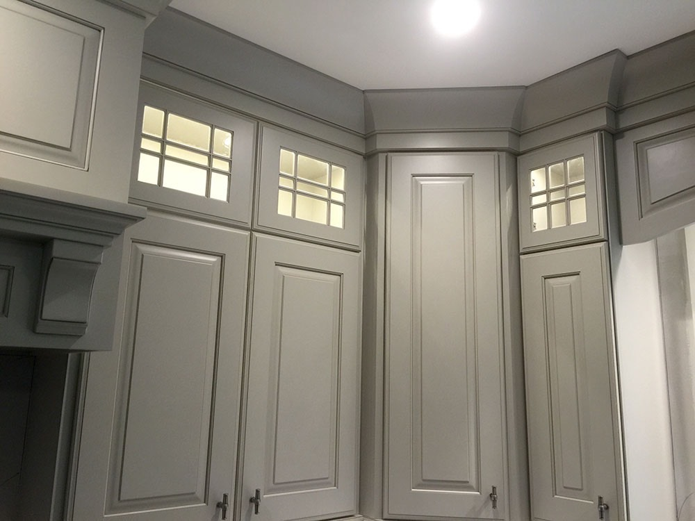 White Door Cabinets Light