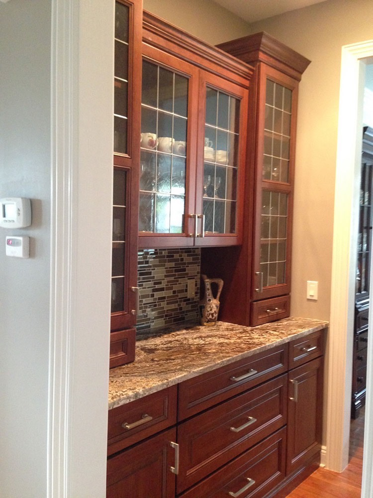 Brown Modern Glass Cabinets