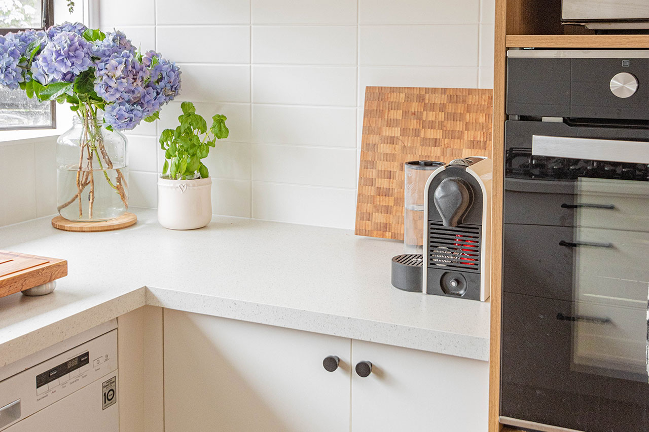Creating a Hidden Coffee Bar with Kitchen Cabinets